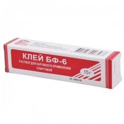 Клей для обработки микротравм (клей БФ-6), р-р д/наружн. прим. 10 г №1 тубы